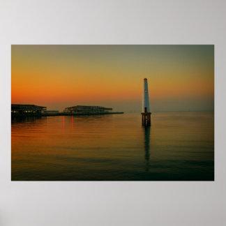 Port Melbourne Lighthouse Poster
