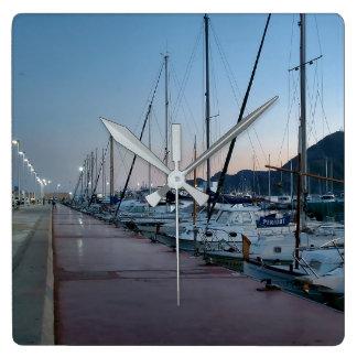 Port of Altea at dusk Clock