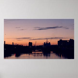 Port of Cork at Dusk Poster