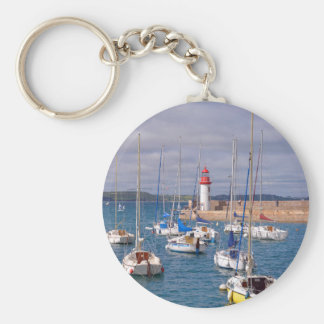 Port of Erquy in France Keychain