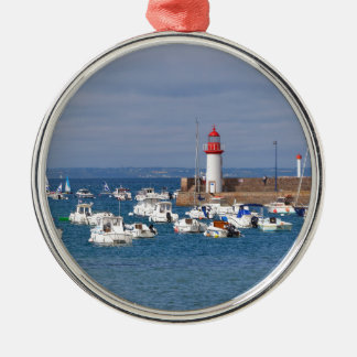 Port of Erquy in France Metal Ornament