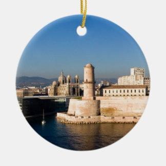 Port of Marseille Ceramic Ornament