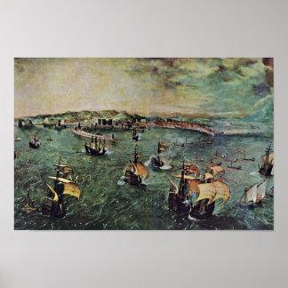 Port Of Naples By Bruegel D. Ä. Pieter Poster
