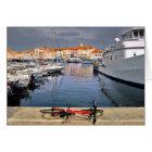 Port of Saint-Tropez in France Card