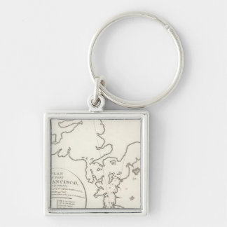 Port of San Francisco Silver-Colored Square Keychain