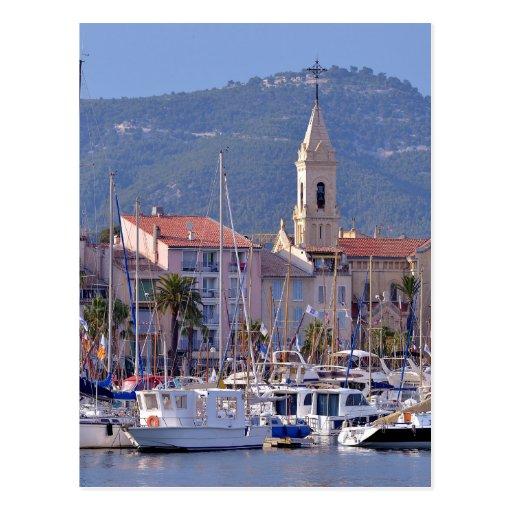 Port of Sanary-sur-Mer in France Postcard