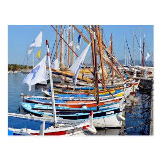 Port of Sanary-sur-Mer in France Postcards