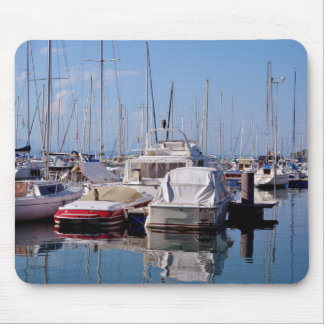 Port of Thonon les Bains in France Mouse Pad