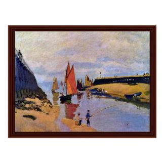 Port Of Trouville By Claude Monet Postcard