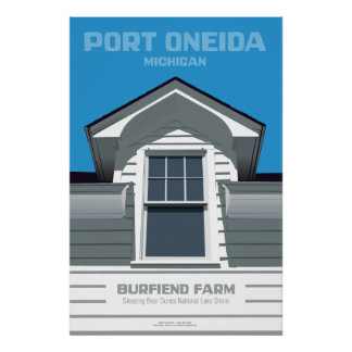 Port Oneida, Michigan - Burfiend Farm Poster