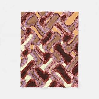 Port & Peach Fleece Blanket by Artist C.L. Brown