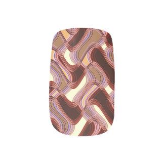 Port & Peach Minx Nails by Artist C.L. Brown Minx Nail Art