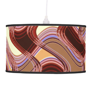 Port & Peach Pendant Lamp by Artist C.L. Brown