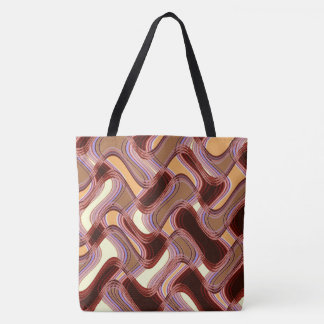 Port & Peach Tote Bag by Artist C.L. Brown