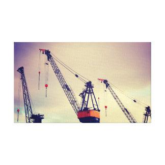 Port | photos | Canvas | 60 x 40 cm de Hambourg Impression Sur Toile