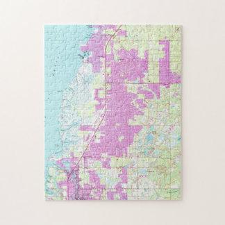 Port Richey & New Port Richey Florida Map (1954) Jigsaw Puzzle