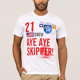 Port Richman Aye Aye Skipper Nautical Slogan T-Shirt
