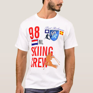 Port Richman Skiing Crew Netherlands Ski T-Shirt