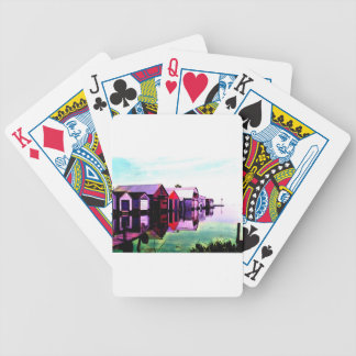 Port Rowan Boathouses Bicycle Playing Cards