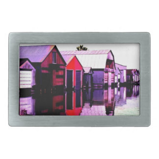 Port Rowan Boathouses Rectangular Belt Buckle