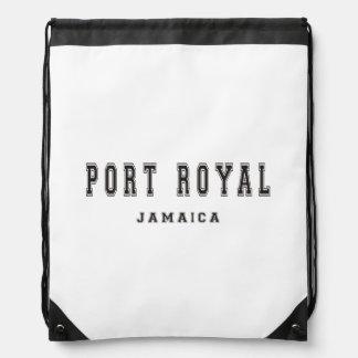 Port Royal Jamaica Drawstring Backpacks