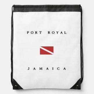 Port Royal Jamaica Scuba Dive Flag Drawstring Backpacks