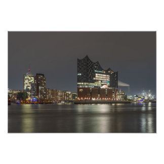 Port town center Hamburg Photo Print