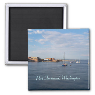 Port Townsend Moorage Square Magnet