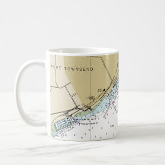 Port Townsend Nautical Chart Coffee Cup
