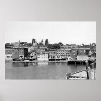 Port Townsend, WA Waterfront Town View Photograp Poster