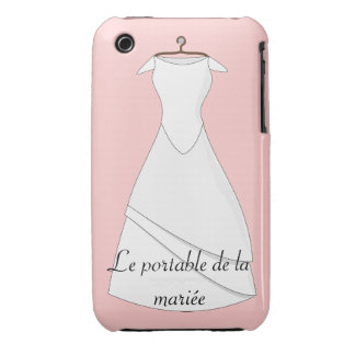 Portable case of the bride white, hull iphone3 iPhone 3 Case-Mate case