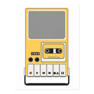 Portable Cassette Tape Recorder Postcard