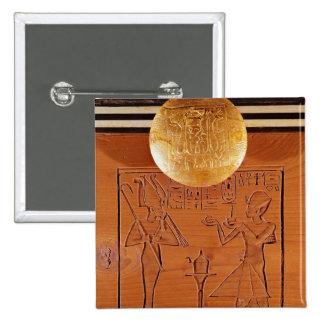 Portable chest, detail of Tutankhamun 2 Inch Square Button