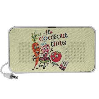 Portable Speaker - Vintage Picnic Cookout Ad