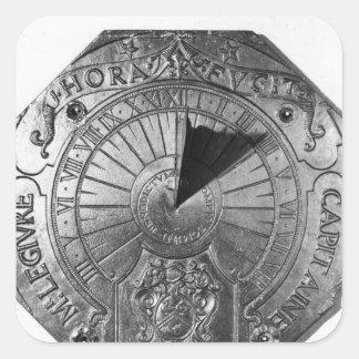 Portable Sundial, from Sierk Castle  1756 Square Sticker