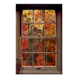 Portable Window AUTUMN Scene Poster
