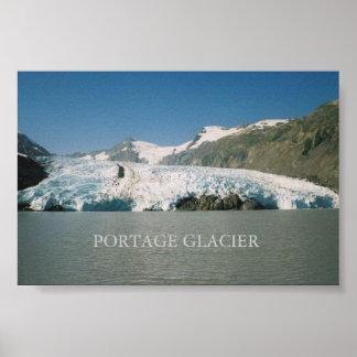 Portage Glacier, Alaska Poster