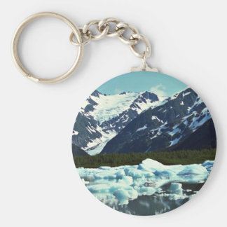 Portage Glacier, north of Port Seward, Alaska Keychain