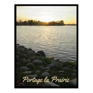 Portage La Prairie - Crescent Lake Sunset 3 Postcard