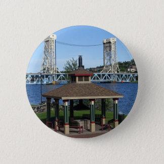 Portage Lake Lift Bridge 2 Inch Round Button