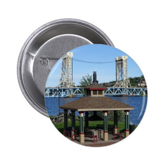Portage Lake Lift Bridge 2 Inch Round Button