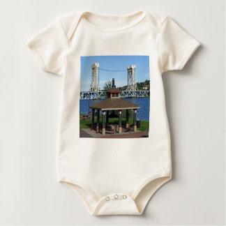 Portage Lake Lift Bridge Baby Bodysuit