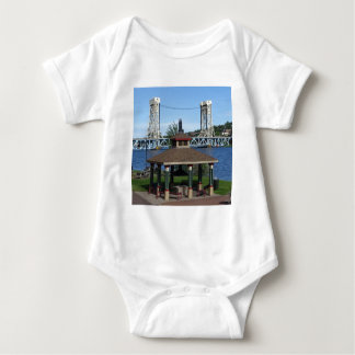 Portage Lake Lift Bridge Baby Bodysuit
