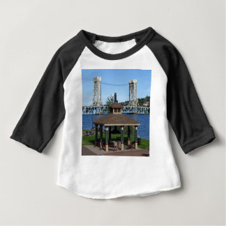 Portage Lake Lift Bridge Baby T-Shirt
