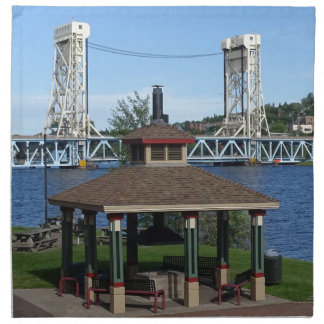 Portage Lake Lift Bridge Cloth Napkins