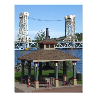 Portage Lake Lift Bridge Customized Letterhead
