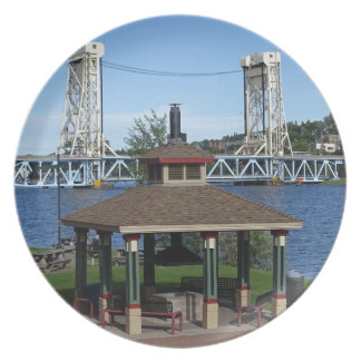 Portage Lake Lift Bridge Dinner Plates