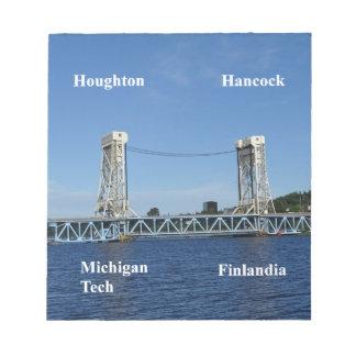 Portage Lake Lift Bridge Notepad