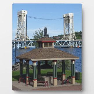 Portage Lake Lift Bridge Plaque