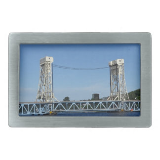 Portage Lake Lift Bridge Rectangular Belt Buckle